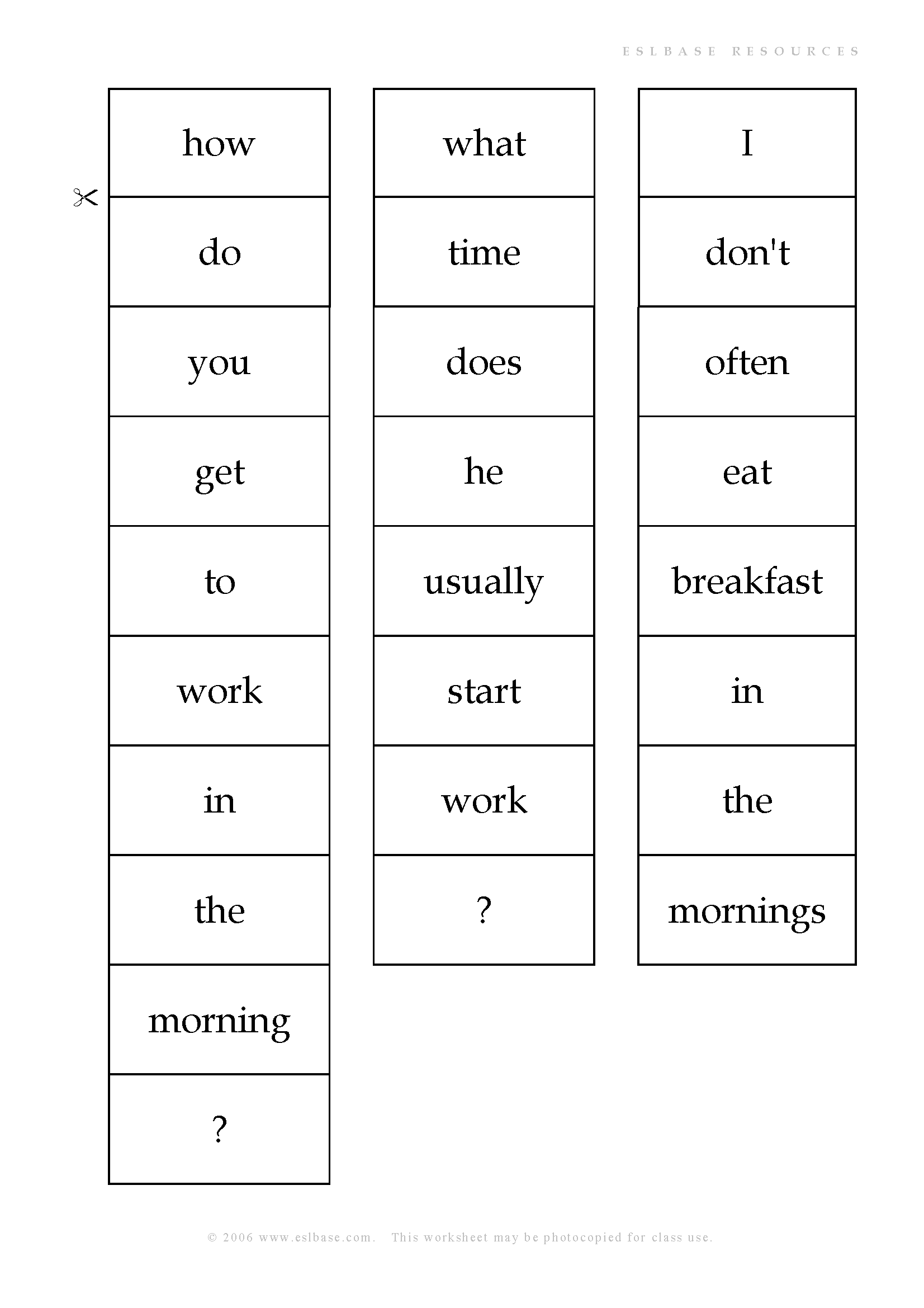 Present simple and adverbs of frequency activity